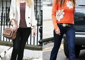 Elle McPherson et Claudia Schiffer : deux façons de porter le jean