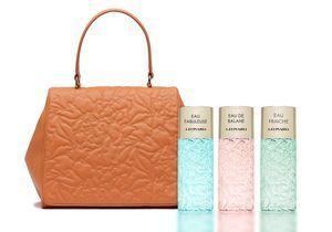 #ELLEGiveItToMe : le sac en cuir et trois parfums Leonard