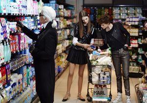Chanel : les images du supermarché de Karl
