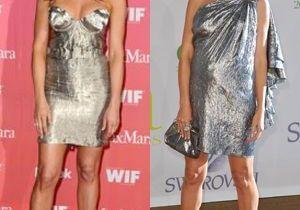 Heidi Klum et Jennifer Aniston : divas disco en lamé argent