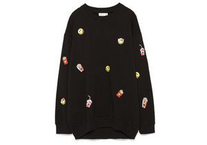 It pièce : les emoticones du sweat Zara