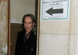 John Galliano condamné à 6 000 euros d'amende avec sursis