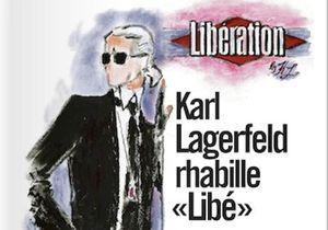 Karl Lagerfeld a relooké Libération !