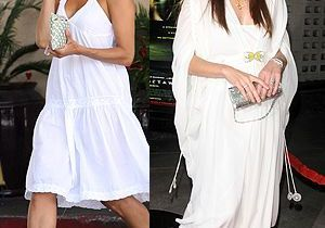 La robe blanche : Eva Mendes le jour, Milla Jovovich le soir