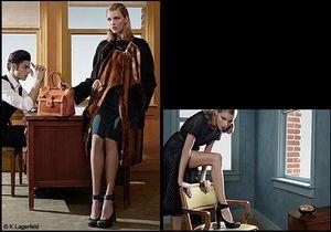Lagerfeld, photographe pour la nouvelle campagne Fendi