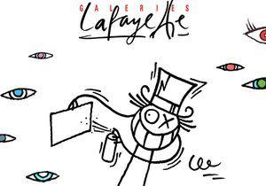 Le graffeur André repeint les Galeries Lafayette