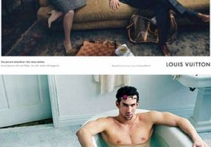 Le nageur Michael Phelps pose pour Louis Vuitton