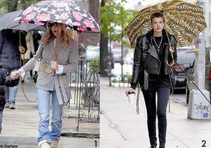 Les people sortent leurs parapluies !