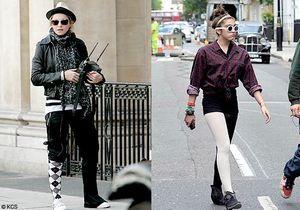 Madonna et Lourdes… jambe, oh no !