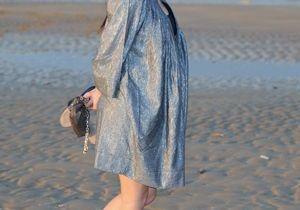 Mélanie Doutey, une future maman chic en robe tunique