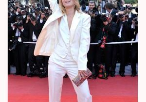 Mélanie Laurent : smoking blanc sur tapis rouge à Cannes