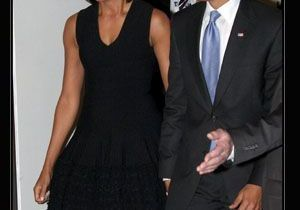 Michelle Obama, élégante en Azzedine Alaia