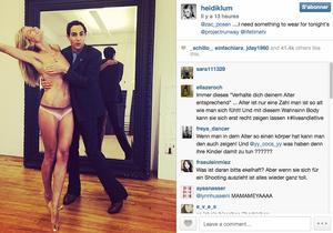 Que font Heidi Klum topless et Zac Posen ensemble?