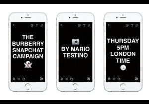 Burberry : la campagne printemps-été 2016 réalisée en direct sur Snapchat
