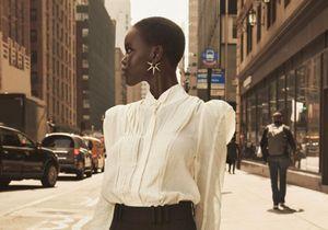 #ElleFashionCrush : Adut Akech, citadine élégante dans la nouvelle campagne H&M Studio