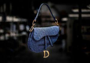 #ELLEFashionCrush : le sac Saddle en denim brodé