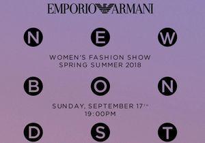 Fashion week de Londres : suivez le défilé Emporio Armani en direct
