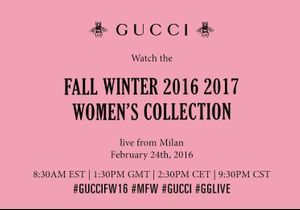 Fashion Week : suivez le défilé Gucci en direct à 14h30