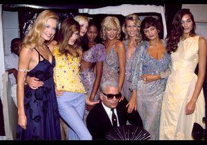 Karl Lagerfeld : les plus beaux clichés des Supermodels dans les années 90