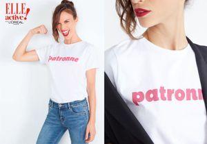 « Patronne » : le t-shirt badass ELLE active x Showroom Privé qu'on veut toutes