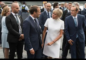 Photos - Brigitte Macron : en looks rouge ou blanc, la Première dame flatte le Danemark