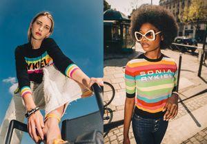 Sonia Rykiel célèbre son anniversaire avec des mailles multicolores