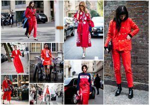 Street style : comment les filles stylées portent le rouge ce printemps ?