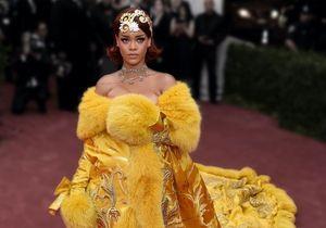 Histoire d'une tenue : la robe omelette de Rihanna au Met Gala 2015