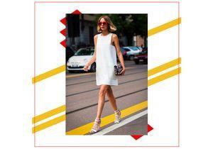 Une robe blanche pour un look frais