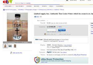 Achetez l'eau dans laquelle s'est baigné Tom Cruise !