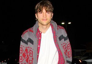 Ashton Kutcher au concert de la fille de Demi Moore