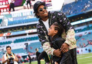 Beyoncé, Jay-Z et leur fille Blue Ivy réunis dans les tribunes du Super Bowl