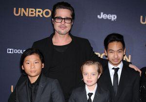 Brad Pitt, Maddox, Pax et Shiloh réunis sur tapis rouge pour promouvoir « Invincible »