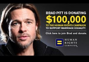 Brad Pitt s'engage pour le mariage gay