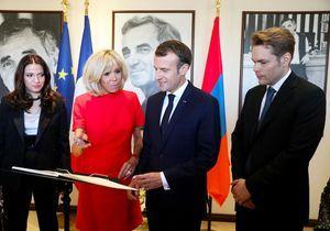 Brigitte Macron en Arménie avec le fils de Charles Aznavour : l'hommage du président au chanteur