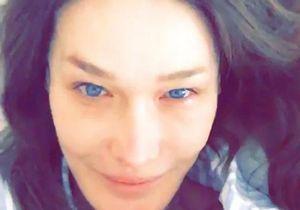 Carla Bruni se dévoile sans maquillage au réveil dans son lit