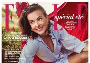 Carole Bouquet en couverture de ELLE cette semaine