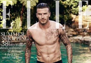 David Beckham en couverture de l'édition du Elle UK !
