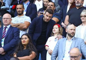 David Beckham et sa fille Harper : complicité père-fille dans les tribunes du Havre !