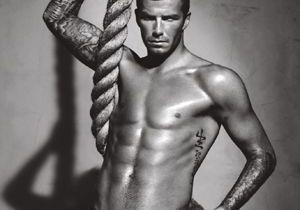 David Beckham se dénude chez Selfridges à Londres