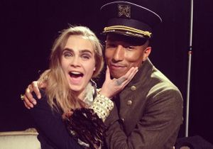 Ecoutez Cara Delevingne chanter avec Pharrell Williams au défilé Chanel !