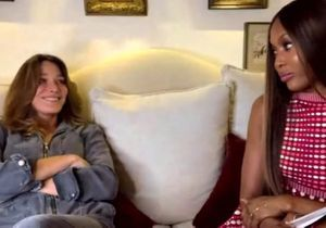 Face à Naomi Campbell, Carla Bruni se confie sur sa rencontre avec Nicolas Sarkozy