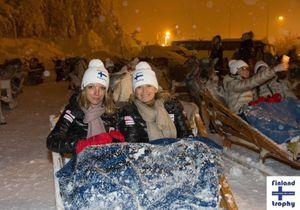 Finland Trophy : Valérie Trierweiler, Laury Thilleman et Christophe Beaugrand dans le grand froid pour la bonne cause