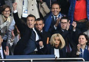 France - Corée du Sud : Emmanuel Macron, fou de joie lors de la victoire des Bleues