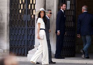 George Clooney et Amal Alamuddin: les photos du mariage civil