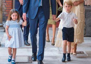 George et Charlotte : à croquer pour le baptême de leur frère le prince Louis