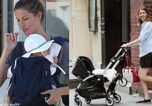 Il fait beau : les people sortent leurs bébés !