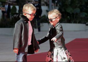 Jacques et Gabriella, les jumeaux d'Albert et Charlène de Monaco, assurent en blouson de motard