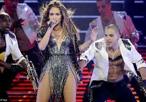 Jennifer Lopez en larmes lors d'un concert