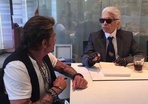 Karl Lagerfeld : des photos avec Johnny Hallyday partagées par Laeticia Hallyday